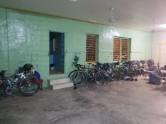 Community Center, Sleeping Quarters, Church and Bike Parking